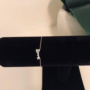 """""""Love"""" Gold Adjustable Bracelet"""